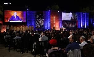 טקס יום הזיכרון לשואה ולגבורה ביד ושם (צילום: אסתי דזיובוב/TPS, חדשות)