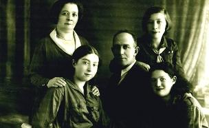 """משפחת רודני. """"נחגוג יחד בארץ ישראל"""" (צילום: מוזיאון בית לוחמי הגטאות, חדשות)"""