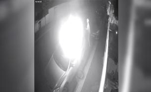 הצתת רכב בנתניה (צילום: דוברות המשטרה, חדשות)