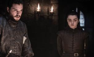 משחקי הכס עונה 8 פרק 2, אריה וג'ון (צילום: Helen Sloan/HBO)