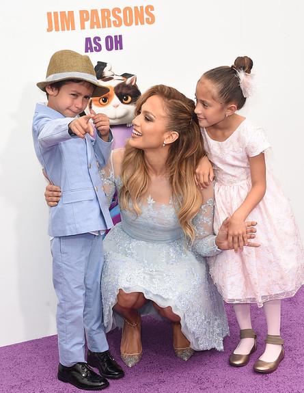 ג'ניפר לופז עם ילדה אמה ומקסמיליאן (צילום: GettyImages - Jason Merritt)