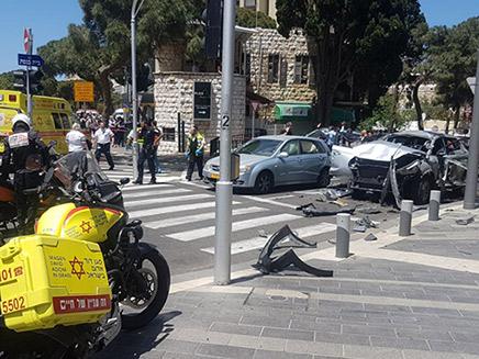 """פיצוץ רכב בחיפה (צילום: תיעוד מבצעי מד""""א, חדשות)"""