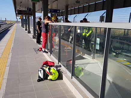 אזור המקרה בתחנת הרכבת, היום (צילום: רכבת ישראל, חדשות)