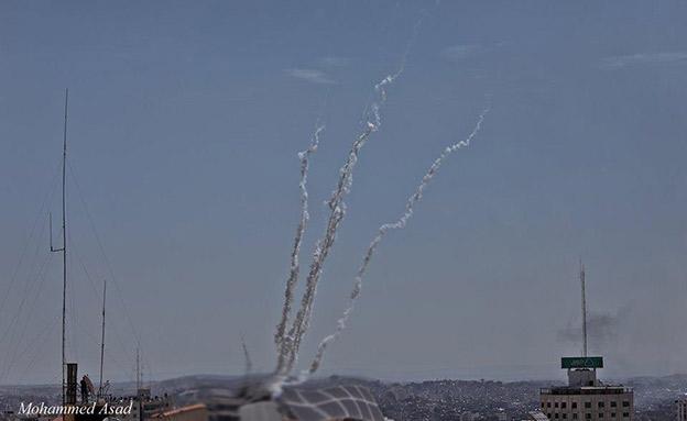 מטח רקטות שנורה מעזה (צילום: חדשות)