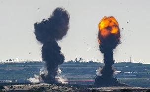 """תקיפות צה""""ל ברצועת עזה (צילום: אמנון זיו, חדשות)"""
