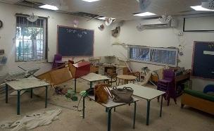 גן הילדים שנפגע בשדרות (צילום: עיריית שדרות, חדשות)