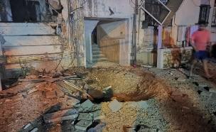 זירת הפגיעה באשקלון שבו נהרג אזרח (צילום: חמל דרום, חדשות)