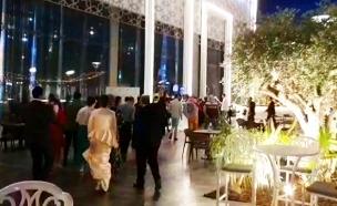 צבע אדום בחתונה באשדוד (צילום: חדשות)