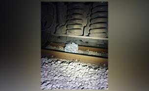 הבלון שנפגע (צילום: רכבת ישראל, חדשות)