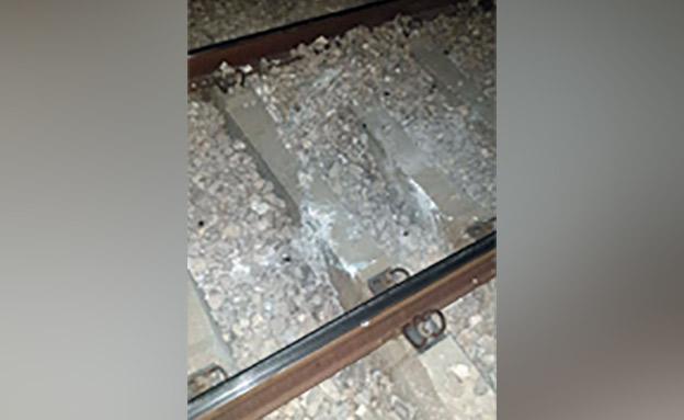 הנזק למסילה (צילום: רכבת ישראל, חדשות)