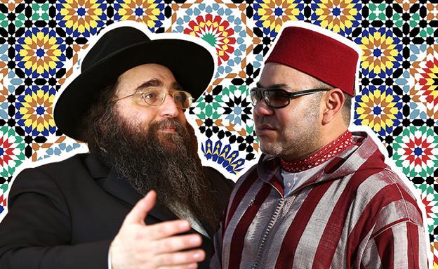 הרב פינטו ומלך מרוקו (צילום: Nati ShohatFlash90, GettyImages-Chris Jackson, shutterstock)