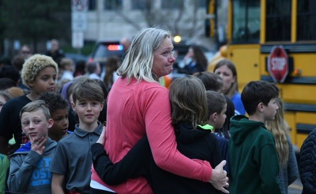 תלמידי בית הספר בקולורדו (צילום: sky news, חדשות)