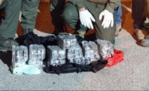 תיעוד סיכול ההברחה (צילום: דוברות המשטרה, חדשות)
