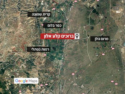 ברוכים קלע אלון, מפת לווין (צילום: google maps, חדשות)