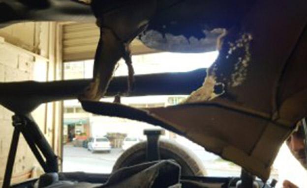 תיעוד הצתת הרכב בכפר ריינה (צילום: דוברות המשטרה, חדשות)