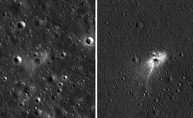 מקום התרסקות החללית בראשית על הירח