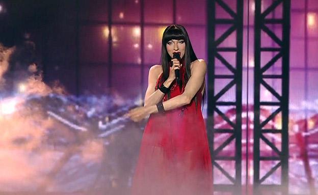 דנה אינטרנשיונל על בימת האירוויזיון (צילום: כאן 11, חדשות)
