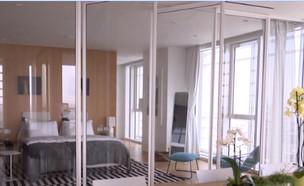 הצצה לדירה ב- 50 מיליון שקלים בתל אביב (צילום: צילום מסך, תוכנית חיסכון, חדשות 2)