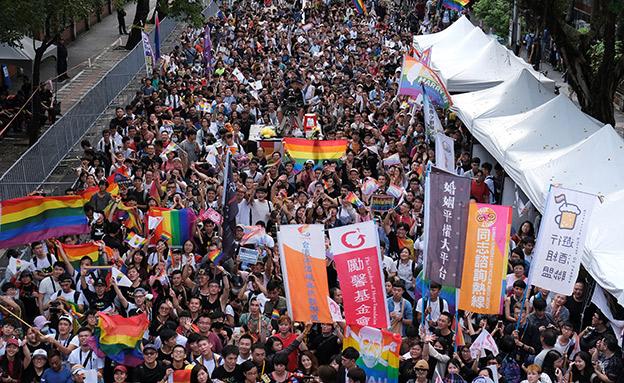 חגיגות הקהילה בטייוואן (צילום: רויטרס, חדשות)