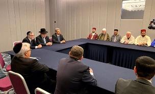 כך נראתה סעודת הרמדאן המשותפת (צילום: ועידת רבני אירופה, חדשות)