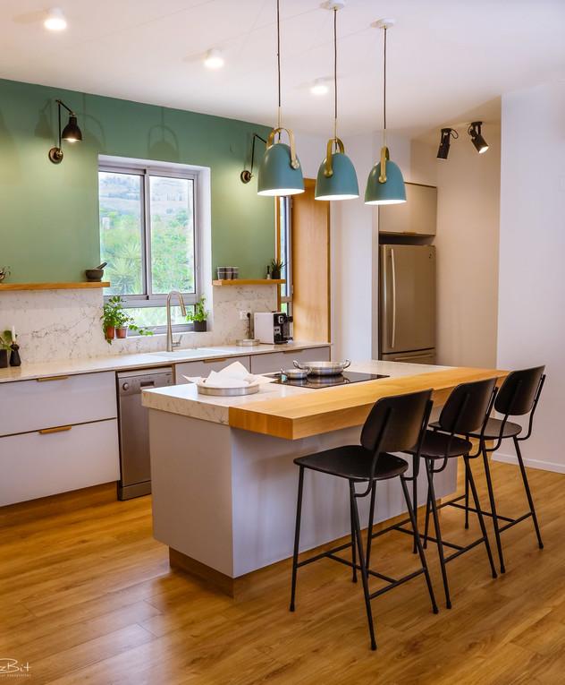 מטבח בקיבוץ, ג, עיצוב שושו פנים של בתים - 4