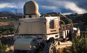 מערכת לייזר צבאית נגד רחפנים (צילום: Raytheon@YouTube)