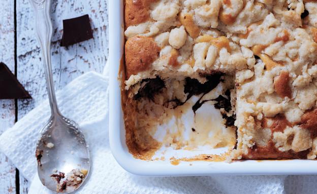 עוגת בננות ושוקולד (צילום: עודד מרום, מאסטר שף, ספר המתכונים עונה 2)