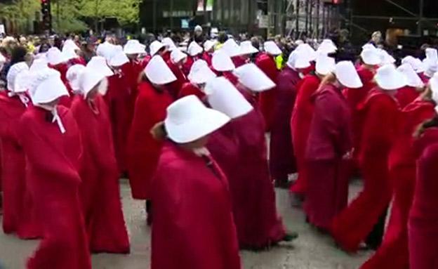 מפגינות בעד הפלות (צילום: enex, חדשות)