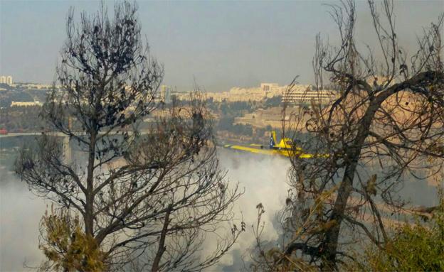 שריפה במבשרת ציון (ארכיון) (צילום: כיבוי והצלה ירושלים)