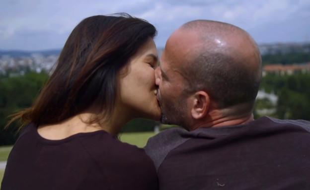 """הנשיקה של אורטל ועידו (צילום: מתוך """"חתונה ממבט ראשון 2"""", קשת 12)"""