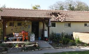 רקטה שפגעה בבית בעוטף בסבב האחרון (צילום: קובי ריכטר/TPS, חדשות)