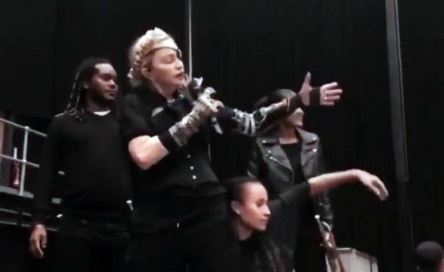 מדונה בחזרות להופעה בגמר (צילום: מתוך האינסטגרם של מדונה, חדשות)
