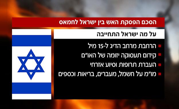 הסכם הפסקת האש בין ישראל לחמאס (צילום: חדשות)