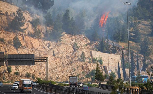 השרפה באזור ירושלים (צילום: הדס פרוש, פלאש 90, חדשות)