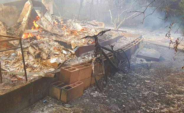ההרס בהראל (צילום: כיבוי והצלה, חדשות)