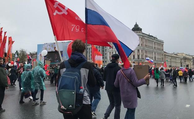 צעדת ה-9 במאי, מוסקבה (צילום: ינון בן שושן, mako חופש)