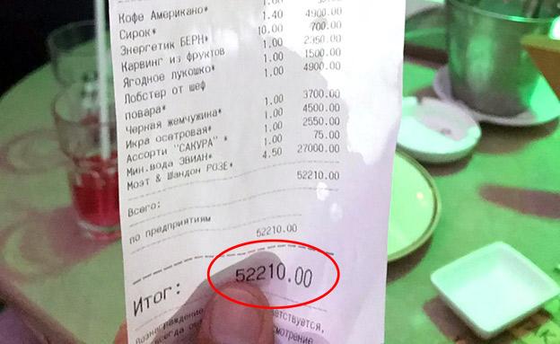 החשבון: יותר מאלפיים דולר (צילום: ללא, חדשות)
