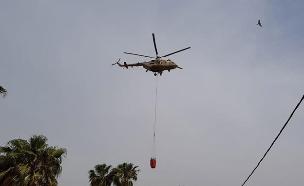 מסוק כיבוי שנשלח ממצרים (צילום: אלי כהן דובר כבה מחוז דרום, חדשות)