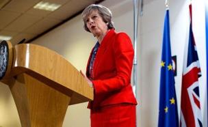ראש ממשלת בריטניה העוזבת, תרזה מיי (ארכי (צילום: sky news, חדשות)