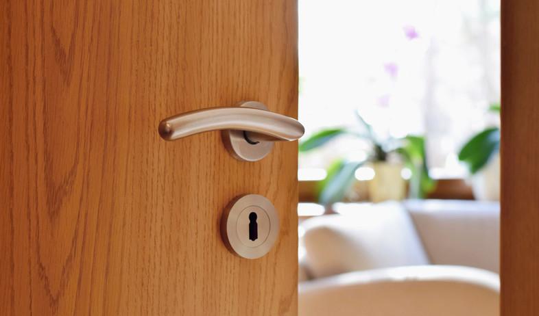 דלת בית חצי פתוחה (צילום: shutterstock / Tunatura)