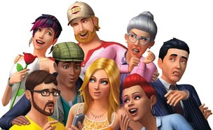 דמויות מהמשחק סימס 4 (עיצוב: EA Games)