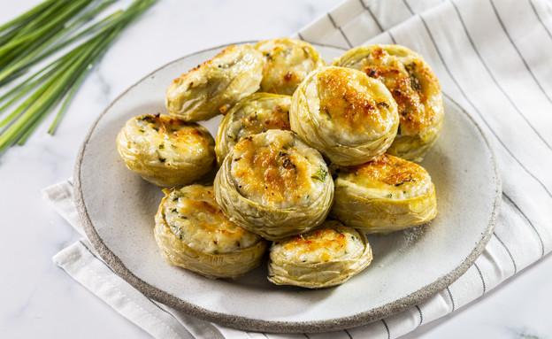 תחתיות ארטישוק ממולאות גבינות (צילום: בועז לביא, אוכל טוב)