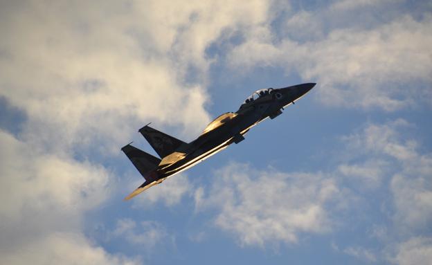 """מטוס F15 מדגם """"רעם"""" של חייל האוויר (צילום: הגר עמיבר / בטאון חיל האוויר, חדשות)"""