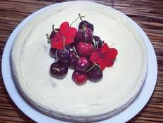 את עוגת הגבינה הזאת הכנו צ'יק צ'ק במיקרו