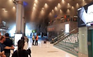 שריפה במסעדת שיפודי התקווה בקניון איילון, רמת גן. (צילום: כבאות דן, חדשות)