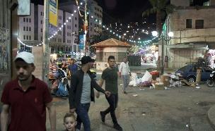 חגיגות הרמאדן בערים הפלסטיניות (צילום: החדשות)