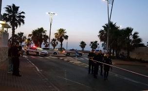 אירוע ירי בעכו (צילום: דוברות המשטרה, חדשות)