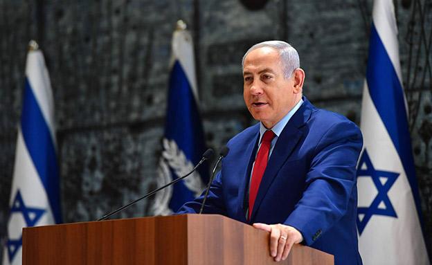 """בנימין נתניהו בטקס מינוי נגיד בנק ישראל (צילום: קובי גדעון / לע""""מ, חדשות)"""