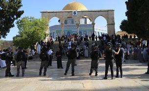 המהומות בהר הבית, הבוקר (צילום: דוברות המשטרה, חדשות)
