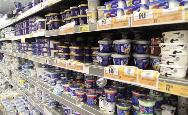 המחיר יתייקר. מדף מוצרי חלב (צילום: חדשות 2)